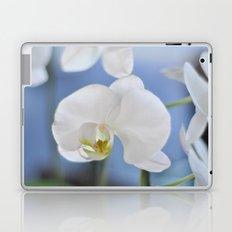 White Phalaenopsis Laptop & iPad Skin