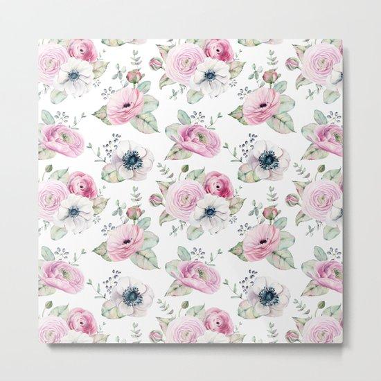 Pretty Petals Pattern Metal Print