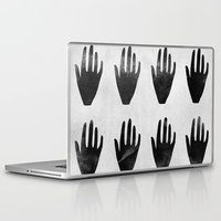 hands Laptop & iPad Skins featuring hands by namaki