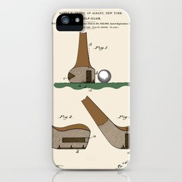 Golf Club Patent iPhone Case