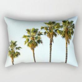 Four Palm Trees Rectangular Pillow