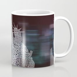 Typographic Statue of Liberty Coffee Mug