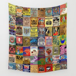 Deadhead Concert Posters Wall Tapestry