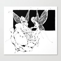 pixies Canvas Prints featuring Pixies by Andrew Mar