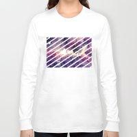 takmaj Long Sleeve T-shirts featuring watercolor galaxy by takmaj