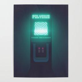 Polybius Arcade Game Machine Cabinet - Front Black Poster