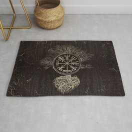 Vegvisir  and Tree of life  -Yggdrasil Rug