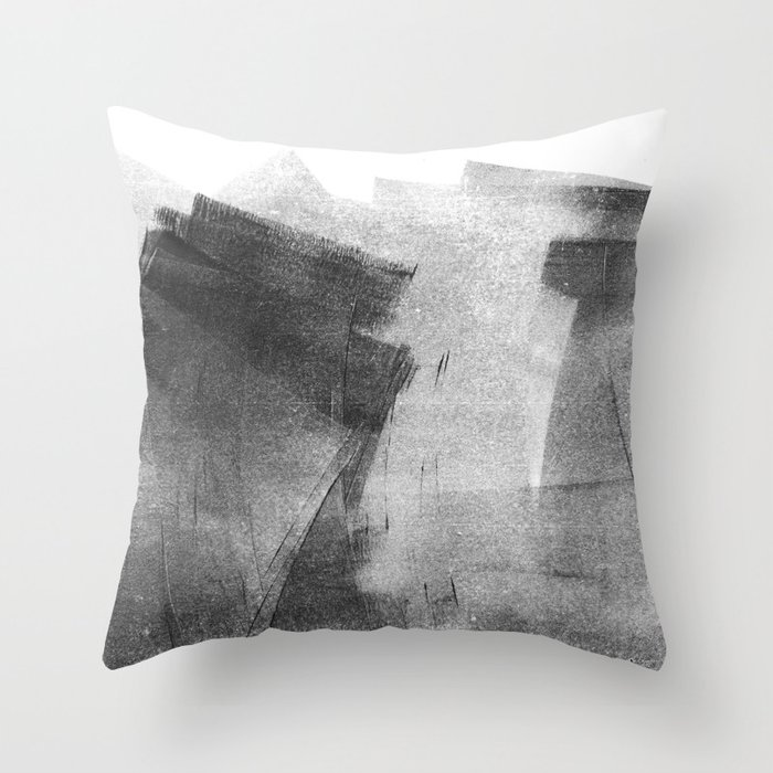 Black And Grey Concrete Texture Urban Minimalist Throw Pillow By Mininst Society6