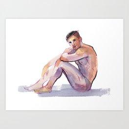 MAX, Semi-Nude Male by Frank-Joseph Art Print