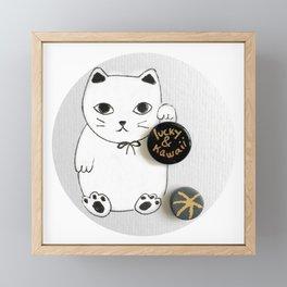 Lucky and Kawaii Framed Mini Art Print