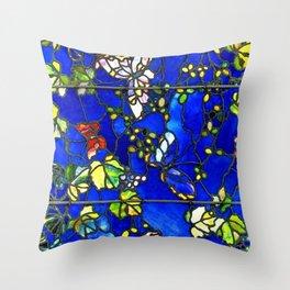 "John La Farge ""Butterflies and Foliage"" window. 1889 (1.) Throw Pillow"