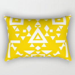 White + Yellow Rectangular Pillow