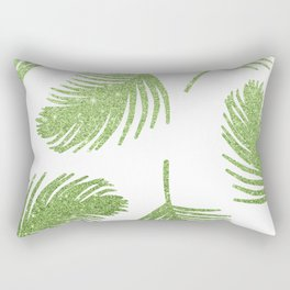 Glitter Palm Leaves Rectangular Pillow