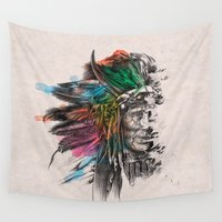 indian Wall Tapestries featuring Indian  by mark ashkenazi