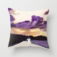 bride Throw Pillows featuring Bride by Chris Baily