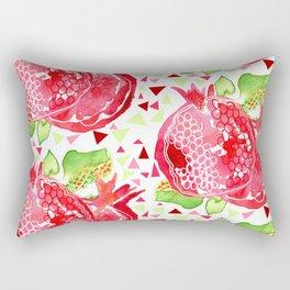 Perfect Pink Pomegranates Rectangular Pillow