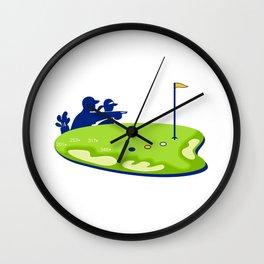 Golfer Caddie Golf Course Retro Wall Clock