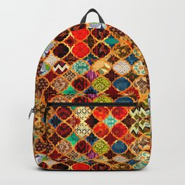 -A32- Epic Colored Traditional Moroccan Artwork. Backpack
