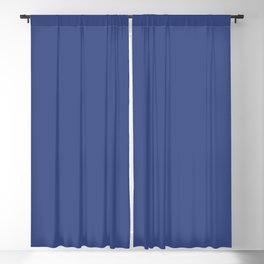 Dunn & Edwards 2019 Curated Colors Dive In (Bold Blue) DE5895 Solid Color Blackout Curtain
