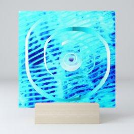 Spiral on  blue Mini Art Print