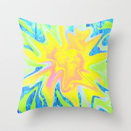 Cool Abstract Yellow Rose Landscape 039 Throw Pillow
