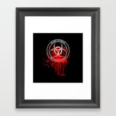 Zombie Outbreak First Response Team Framed Art Print
