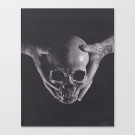 Death in His Hands Canvas Print