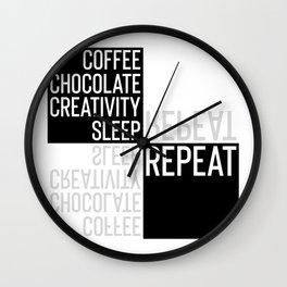 Typographic Design CREATIVE LIFESTYLE Wall Clock