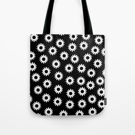 Daisies - Black BG Tote Bag