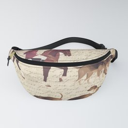 English country foxhunt print Fanny Pack