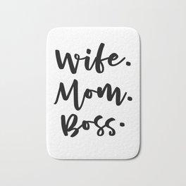 Wife Mom Boss Bath Mat
