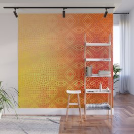 Diamonds Going On Forever (orange) Wall Mural