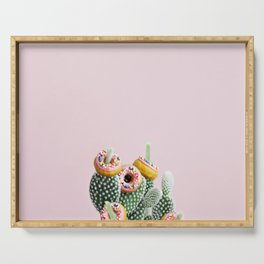 Donut Cactus In Bloom Serving Tray