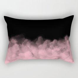 Black with Pink Minimal Rectangular Pillow