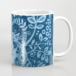 love birds in blue Coffee Mug