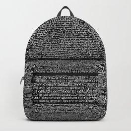 The Rosetta Stone // Black Backpack