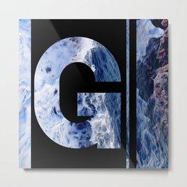 Monogram G Metal Print