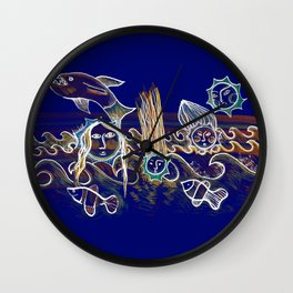 More Suns for Life at Deep Blue Wall Clock