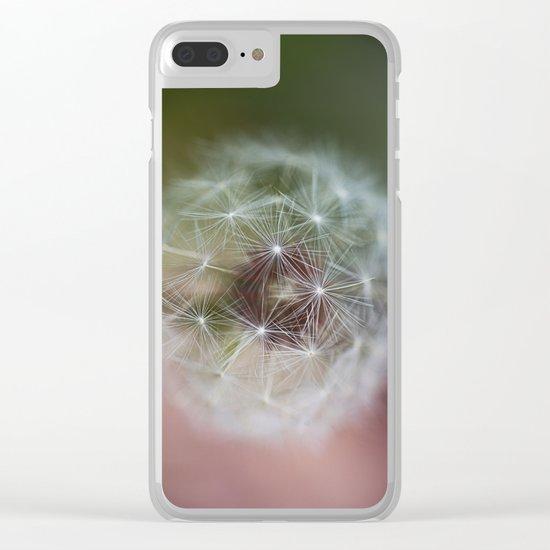 Dandelion Italian Flag Clear iPhone Case