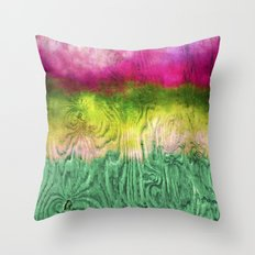 Green Apple Ombre on Wood Throw Pillow