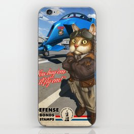 Supporting the Cat Army iPhone Skin