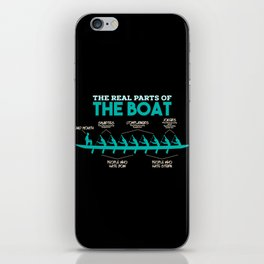 Funny Rowing Gifts - The real parts of the boat iPhone Skin