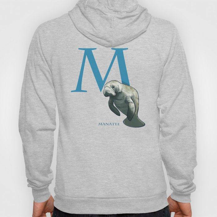 M is for Manatee: Under Appreciated Animals™ ABC nursery decor sea life red unusual animals Hoody