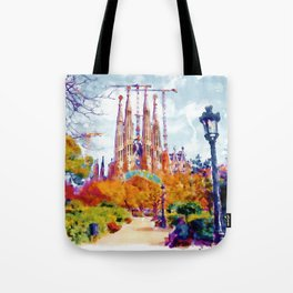 La Sagrada Familia - Park View Tote Bag