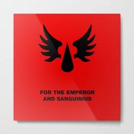 Warhammer 40k Blood Angels Minimalist Poster Metal Print