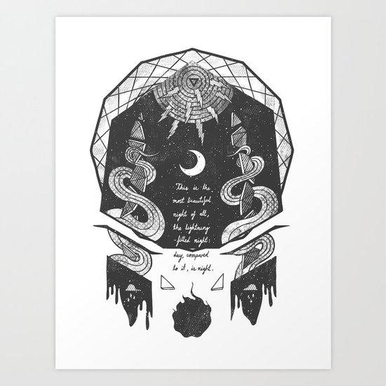 The Lightning-Filled Night Art Print