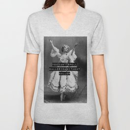 You Can't Spell Ballerina Without Baller Unisex V-Neck