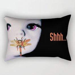 Silence... Rectangular Pillow