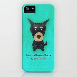 Logan the Doberman Pinscher by leatherprince iPhone Case