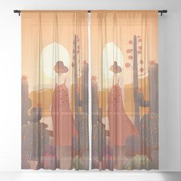 Beauty in the desert Sheer Curtain